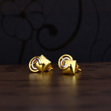 Ladies 22K Gold Fancy Delicate Earring -LPE105