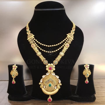 22 kt gold necklace set gnh47 - gft h/m83