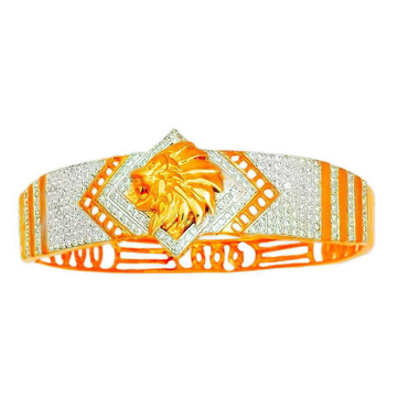 916 Gold Traditional Designer Lion Shape Kada