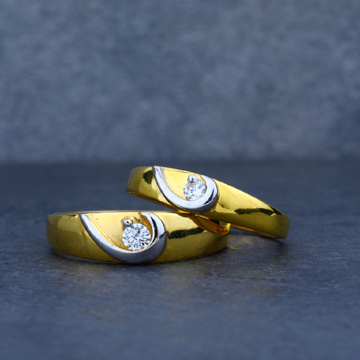 Exclusive Solitaire Gold Couple Ring-CR16