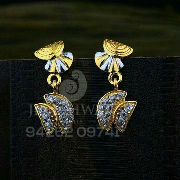 18kt Unique Designer Cz Gold Ladies Tops ATG -0528