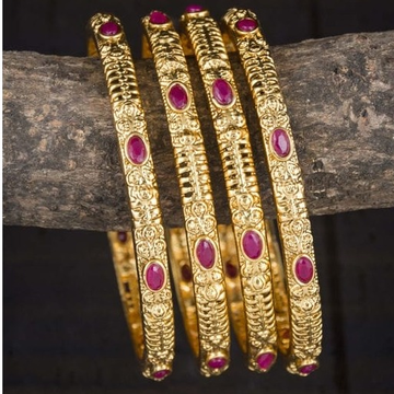 22 kt 916 gold fancy bangles by