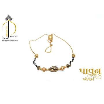 18KT Yellow Gold Mangalsutra Bracelet For Women LB... by