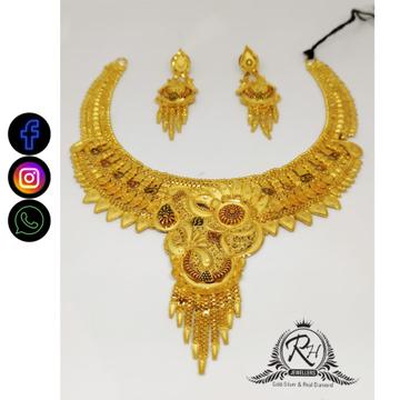 22 carat gold antique ladies necklace set RH-NS410