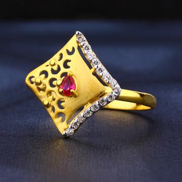 916 Gold Hallmark Classic Ladies Ring LR448
