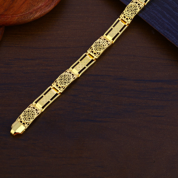 Mens Plain Gold Bracelet-MPB148
