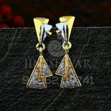 18kt Fancy Cz Gold Ladies Tops ATG -0549