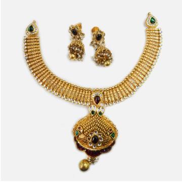 22KT Gold Traditional Bridal Necklace Set RHJ-0008