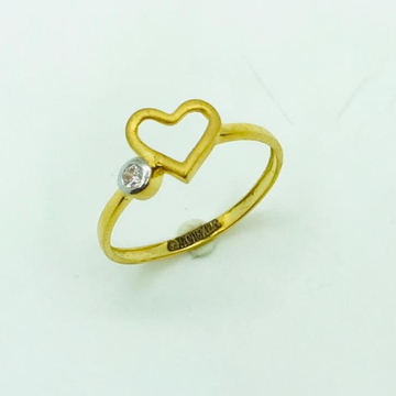 gold ring heart shape by