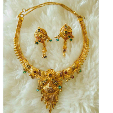Gold  Necklace Set Antique Piece by