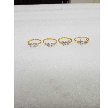 22KT Gold Delicate Design CZ Ladies Ring