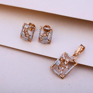 18KT Rose Gold Fancy Hallmark Pendant Set RPS33