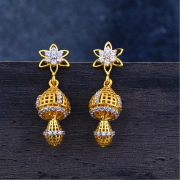 Ladies 22K Gold Jummar Classic Earrings -LJE114