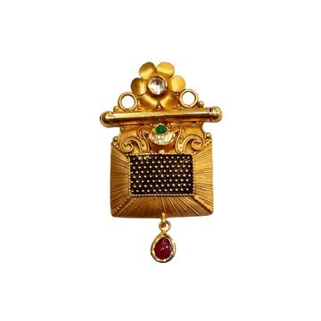22K Gold Antique Designer Mangalsutra Pendant MGA - MGP0022