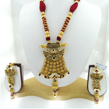 916 Gold Antique Bridal Necklace Set RHJ-3378
