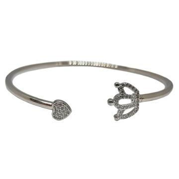 925 Sterling Silver Queen Shaped Fancy Bracelet MG...