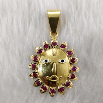 Antique 916 Gold Gent's Surya Pendant