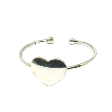 925 sterling silver heart shape baccha bracelet mga - krs0139