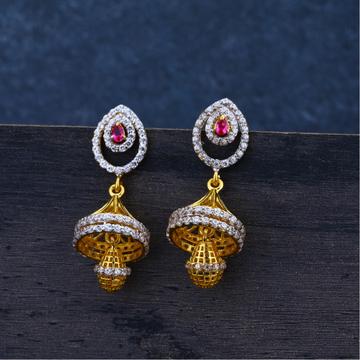 Ladies 22K Diamond Fancy Jummar Earrings -LJE96