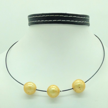 Freshwater Golden RoundPearls Pipe MalaJPM0455