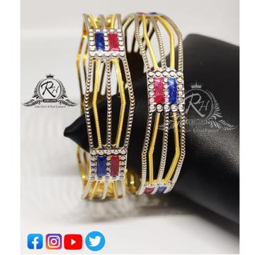 22 carat gold antique ladies bangles RH-LB083