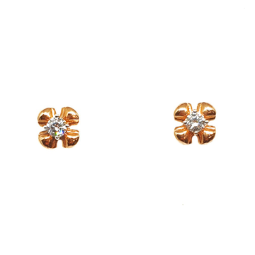 18K Rose Gold Flower Shaped Earrings MGA - BTG0188
