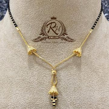 22 carat gold traditional ladies mangansutra RH-MS325