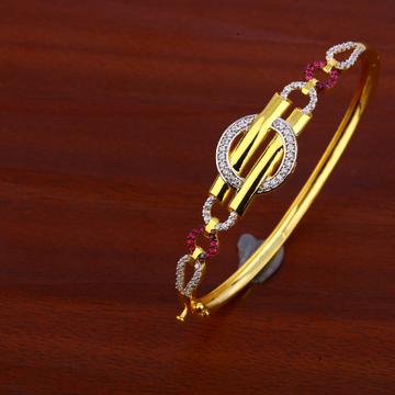 750 Gold Classic Cz Bracelet LKB76