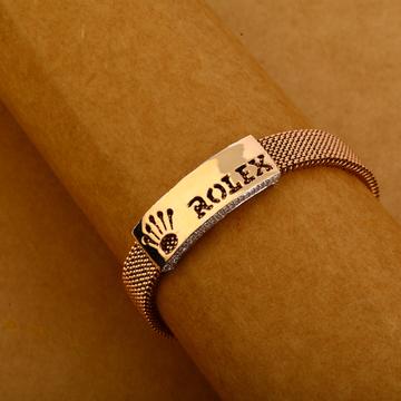 750 Rose Gold Cz Delicate Leather Bracelet MLB311
