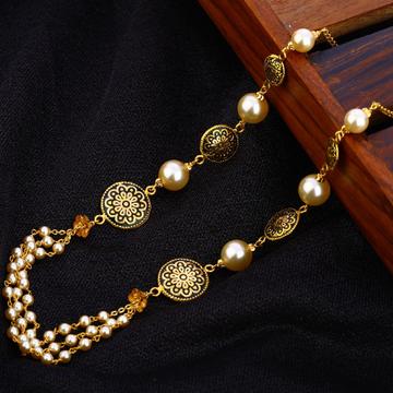 916 Gold Hallmark Fancy Antique Chain Mala AC191