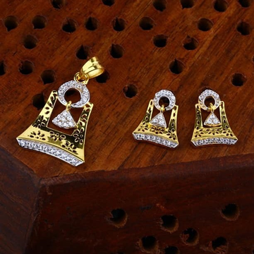 916 gold cz Pendant Set ps-0010