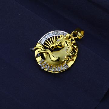 Men's Exclusive 916 Fancy Horse Gold Pendant- MFP04