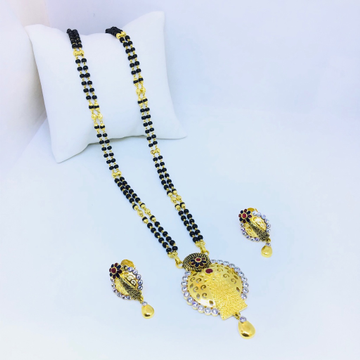 1 gram fancy gold mangalsutra by