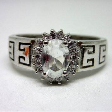 Silver 925 single oval shape stone ring sr925-50 by