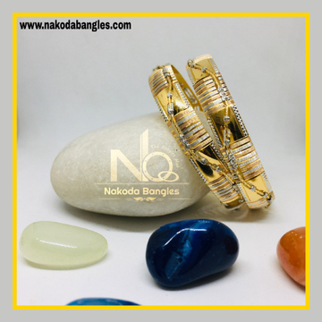 916 Gold CNC Bangles NB - 1269