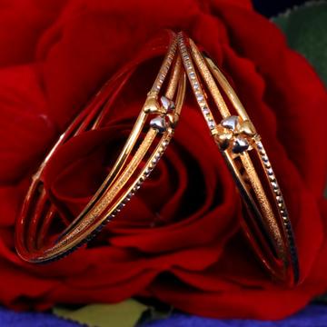 916 Gold Flower Design Copper Kadli Bangle