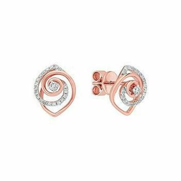 18KT Rose Gold fancy casual ware CZ earrings for l... by