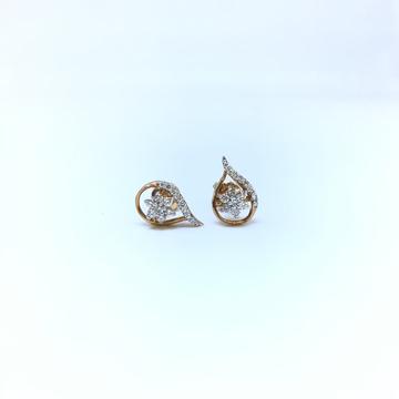 FANCY REAL DIAMOND ROSE GOLD EARRING by