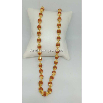 22KT Gold Traditional Beaded Rudraksha Mala