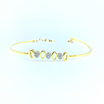 DESIGNING FANCY REAL DIAMOND KADA BRACELET by