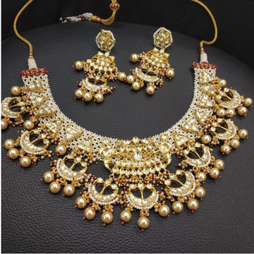 Designer Moti Work Bridal Necklace Set