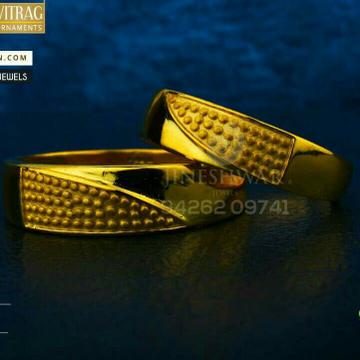 916 Unique Designer Plain Gold Couple Ring