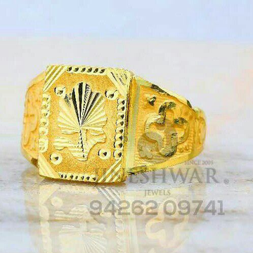 Designer Plain Gold Fancy Gents Ring