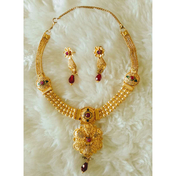 Gold Necklace Set Butii by