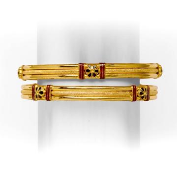 916 TRADITIONAL GOLD COPPER BANGLE KADLI by