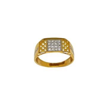22K Gold Fancy Gents Ring MGA - GRG0240