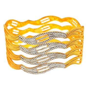 1 gram gold forming fancy bangles mga - bge0420