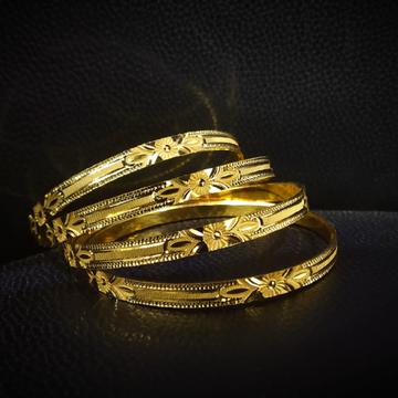 22k Hallmark Gold Classic Design Bangle by Pratima Jewellers