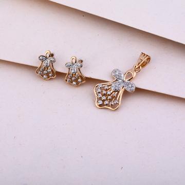 750  Rose Gold Diamond Pendant Set RPS123