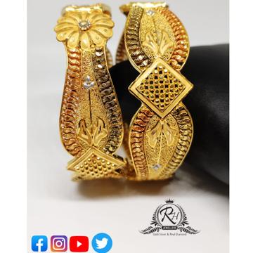 22 carat gold fancy bangles RH-BN359